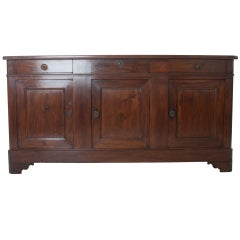 French Louis Philippe Style Walnut Enfilade