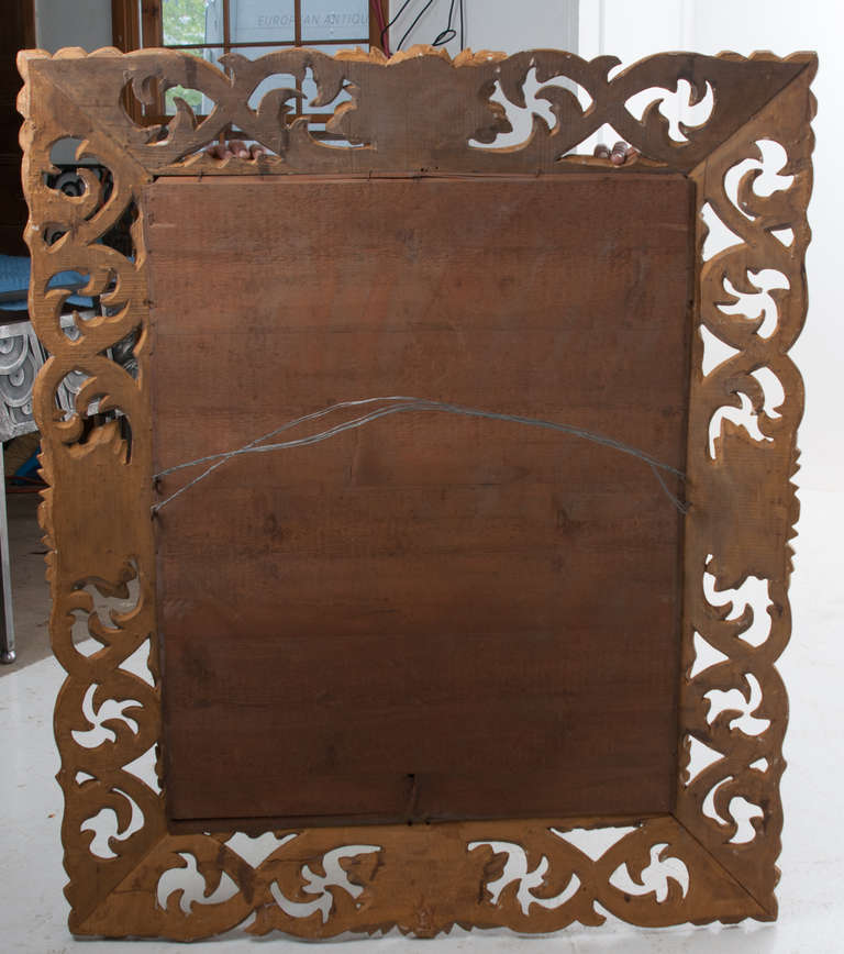 19th Century Giltwood Florentine Carved Mirror For Sale 6
