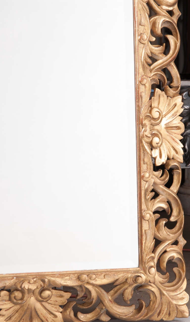 19th Century Giltwood Florentine Carved Mirror For Sale 5