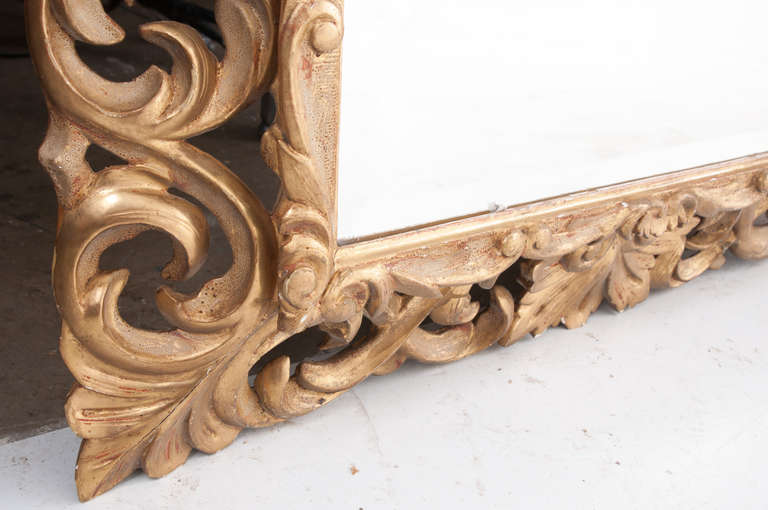 19th Century Giltwood Florentine Carved Mirror For Sale 3