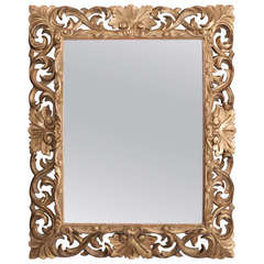 19th Century Giltwood Florentine Carved Mirror