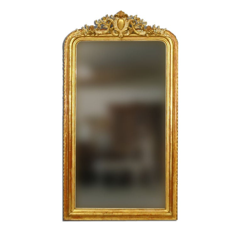 French 19th Century Gold Gilt Mirror At 1stdibs
