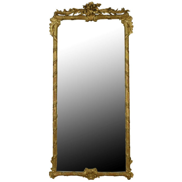 French Gold Gilt 19th Century Mirror At 1stdibs