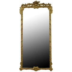French Gold Gilt 19th Century Mirror