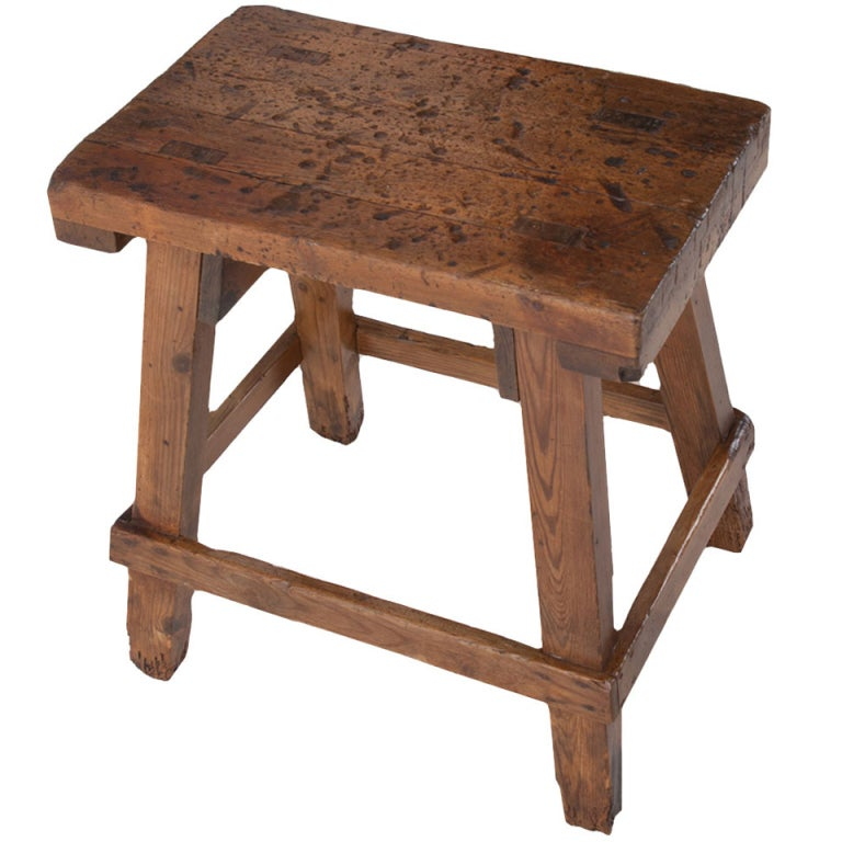 Portuguese 18th Century Wooden Stool At 1stdibs