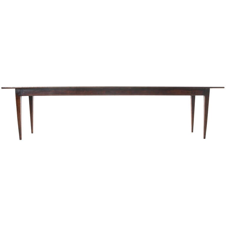French 19th century dark pine 10ft farm table at 1stdibs for 10 foot farm table