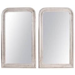 Pair of French 19th Century Louis Philippe Silver Gilt Mirrors