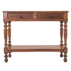 French 19th Century Fruit Wood Console Table