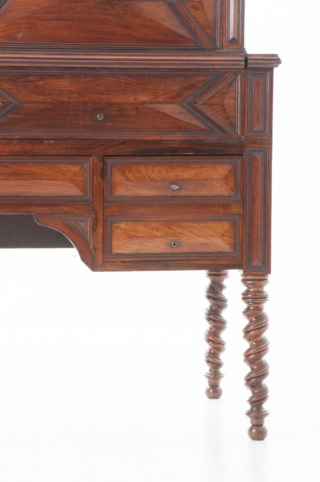 French 19th Century Barley Twist Fold Down Desk In Good Condition For Sale In Baton Rouge, LA