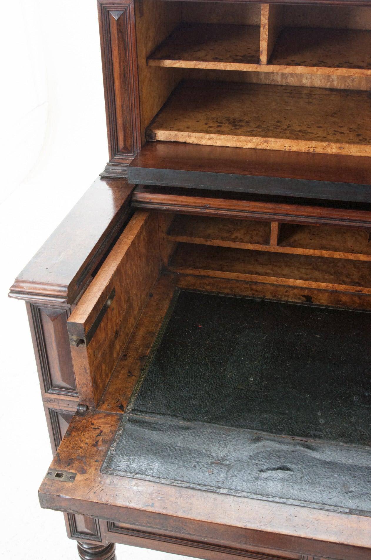 French 19th Century Barley Twist Fold Down Desk For Sale 2