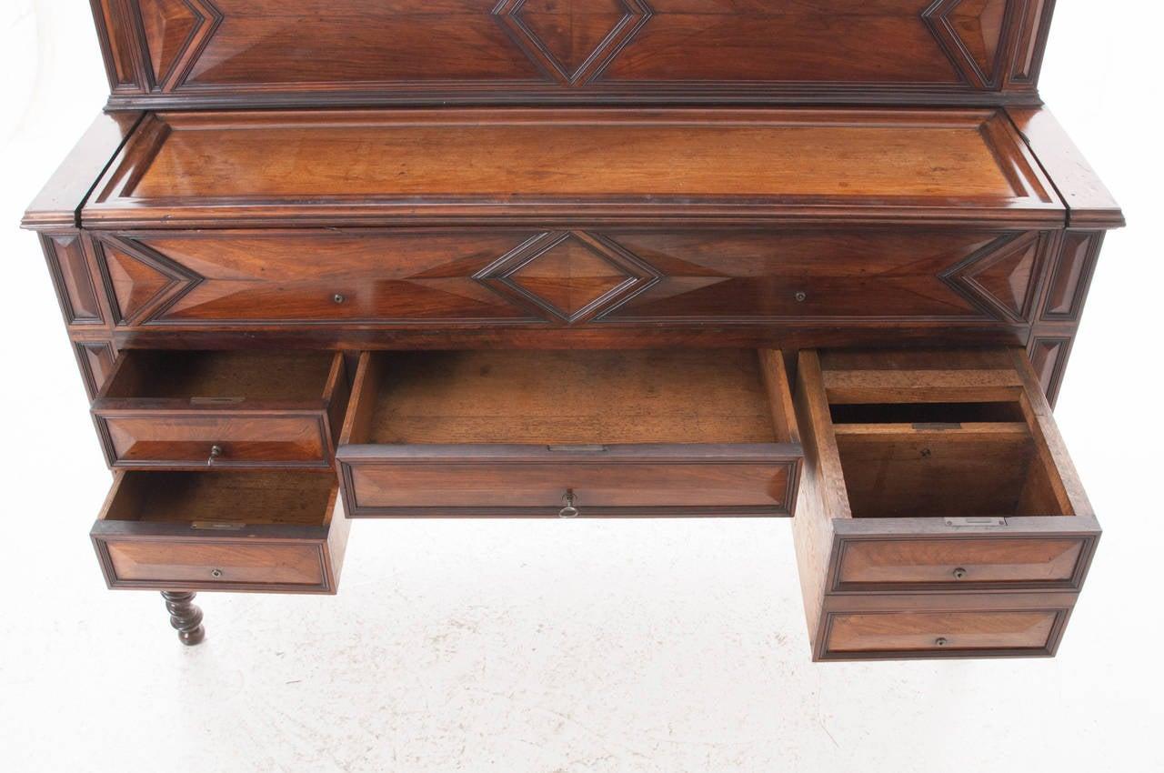 French 19th Century Barley Twist Fold Down Desk For Sale 3