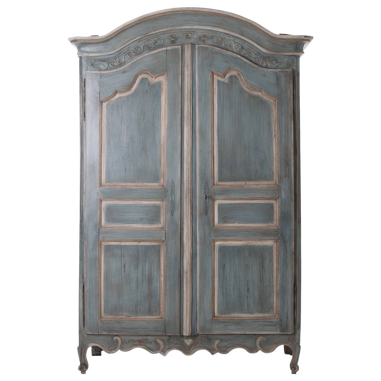 French, Early 19th Century Painted Cherry Armoire For Sale
