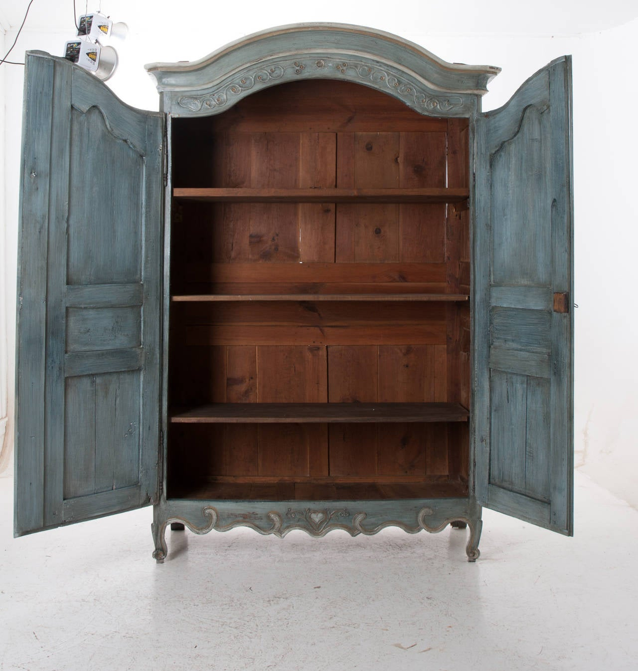 French, Early 19th Century Painted Cherry Armoire For Sale 5