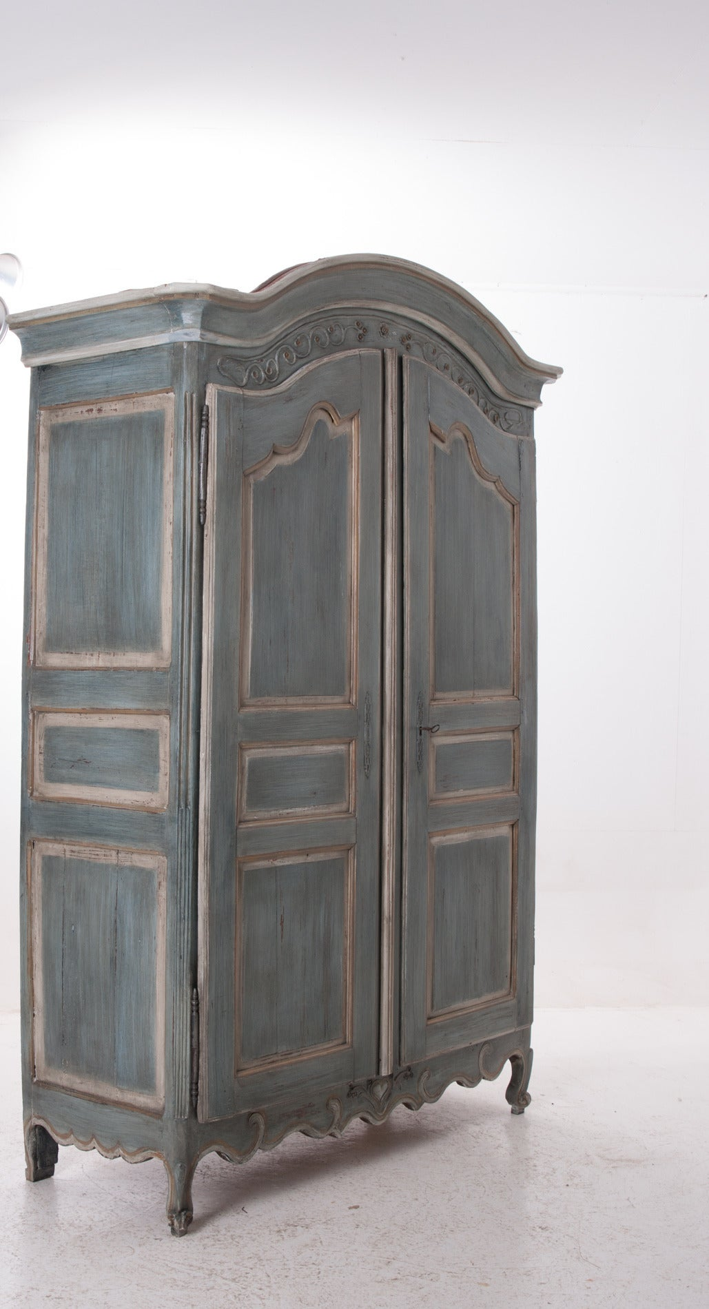 French, Early 19th Century Painted Cherry Armoire For Sale 2