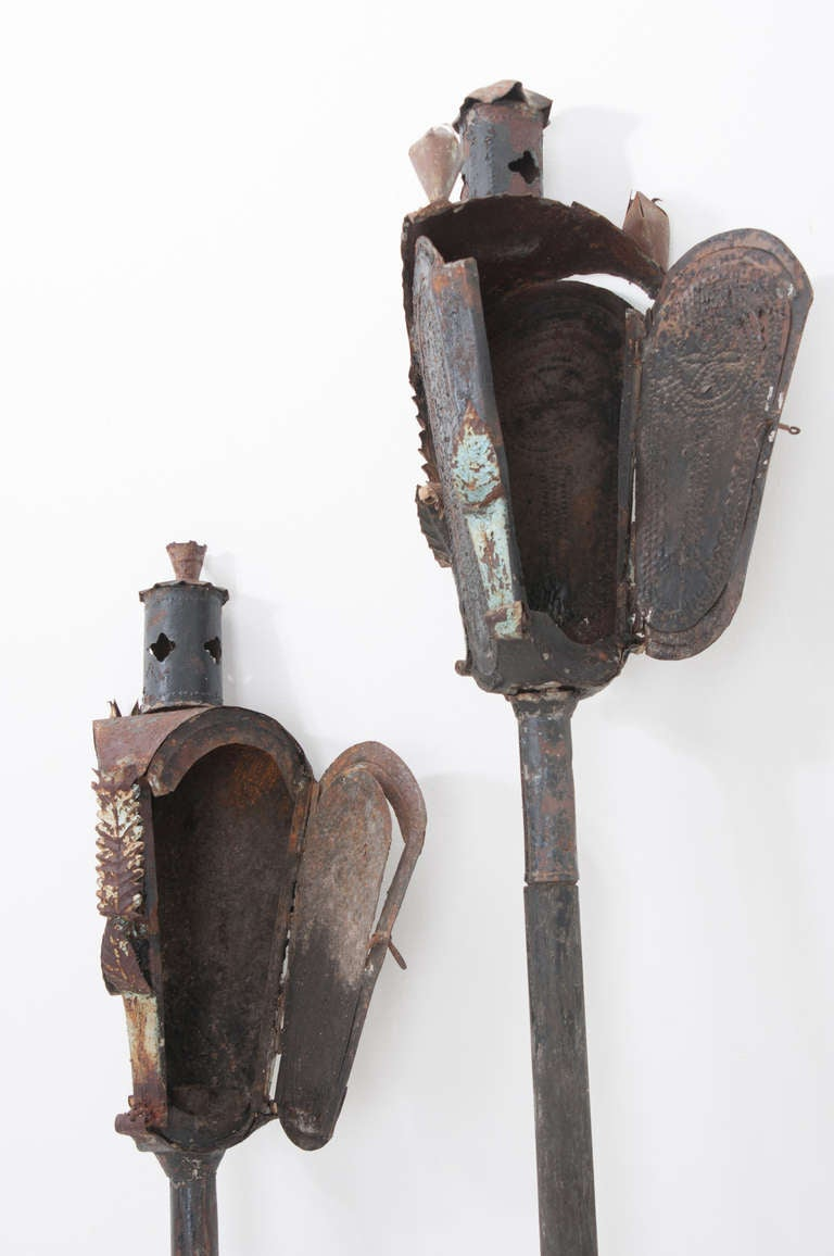 Religious Italian 19th Century Pair of Incense Torches For Sale 1