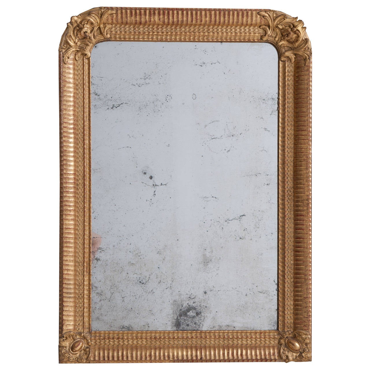 French 19th Century Louis Philippe Gold Gilt Mirror 1