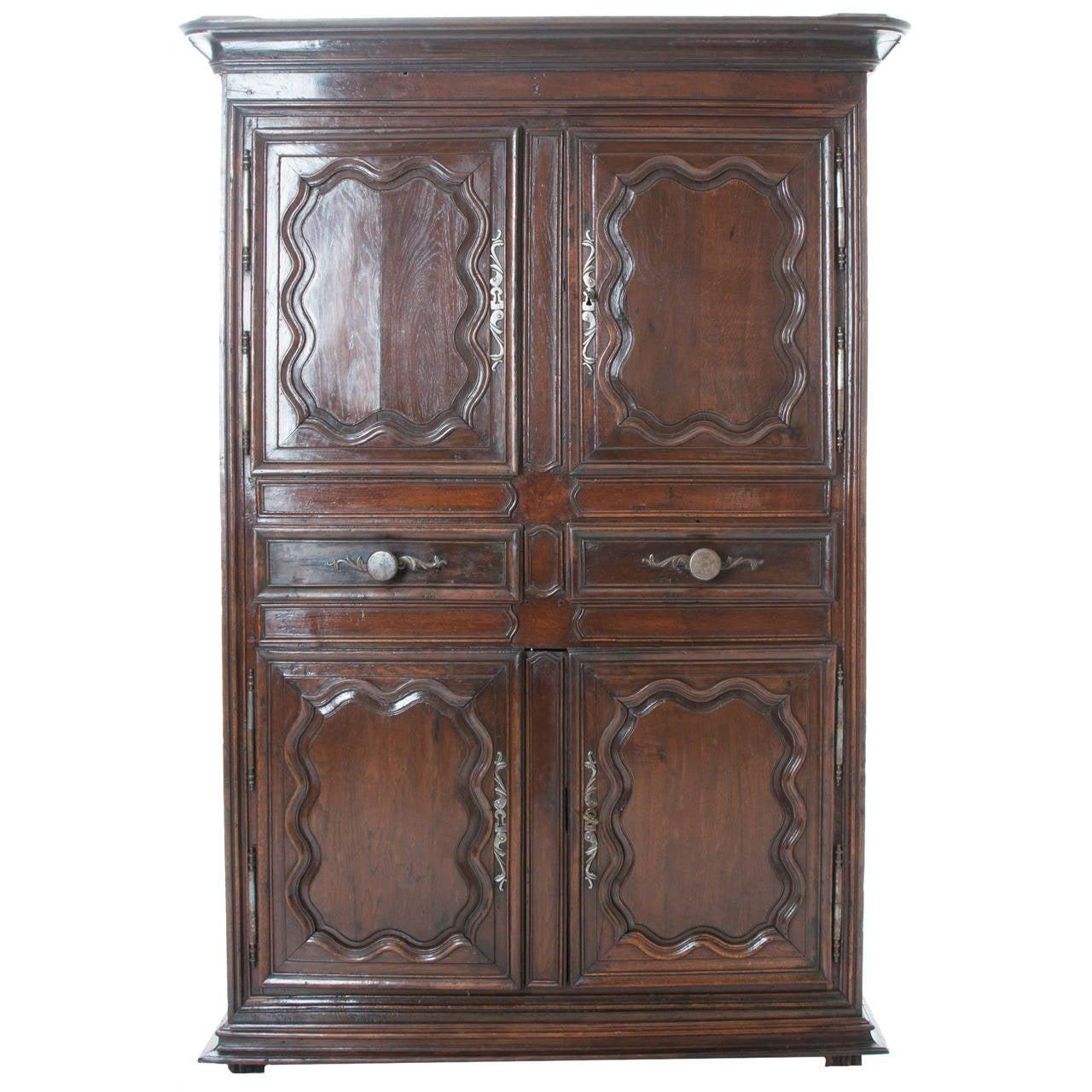 French 18th Century Dark Oak Cupboard