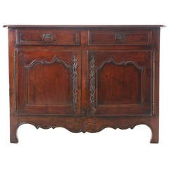 French 19th Century Provincial Walnut Buffet