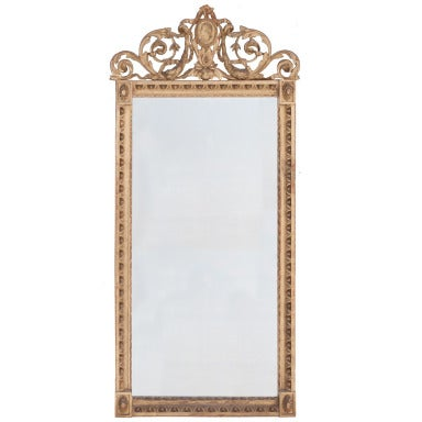 French 18th Century Carved Gold Gilt Cameo Mirror