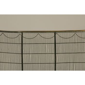 English metal and brass fireplace screen