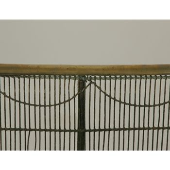 19th Century Large English 19th C Fireplace Screen For Sale