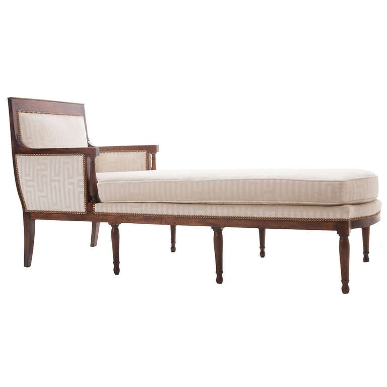 Stupendous French 19Th Century Long Directoire Chaise Longue At 1Stdibs Theyellowbook Wood Chair Design Ideas Theyellowbookinfo
