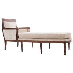 French 19th Century Long Directoire Chaise Longue