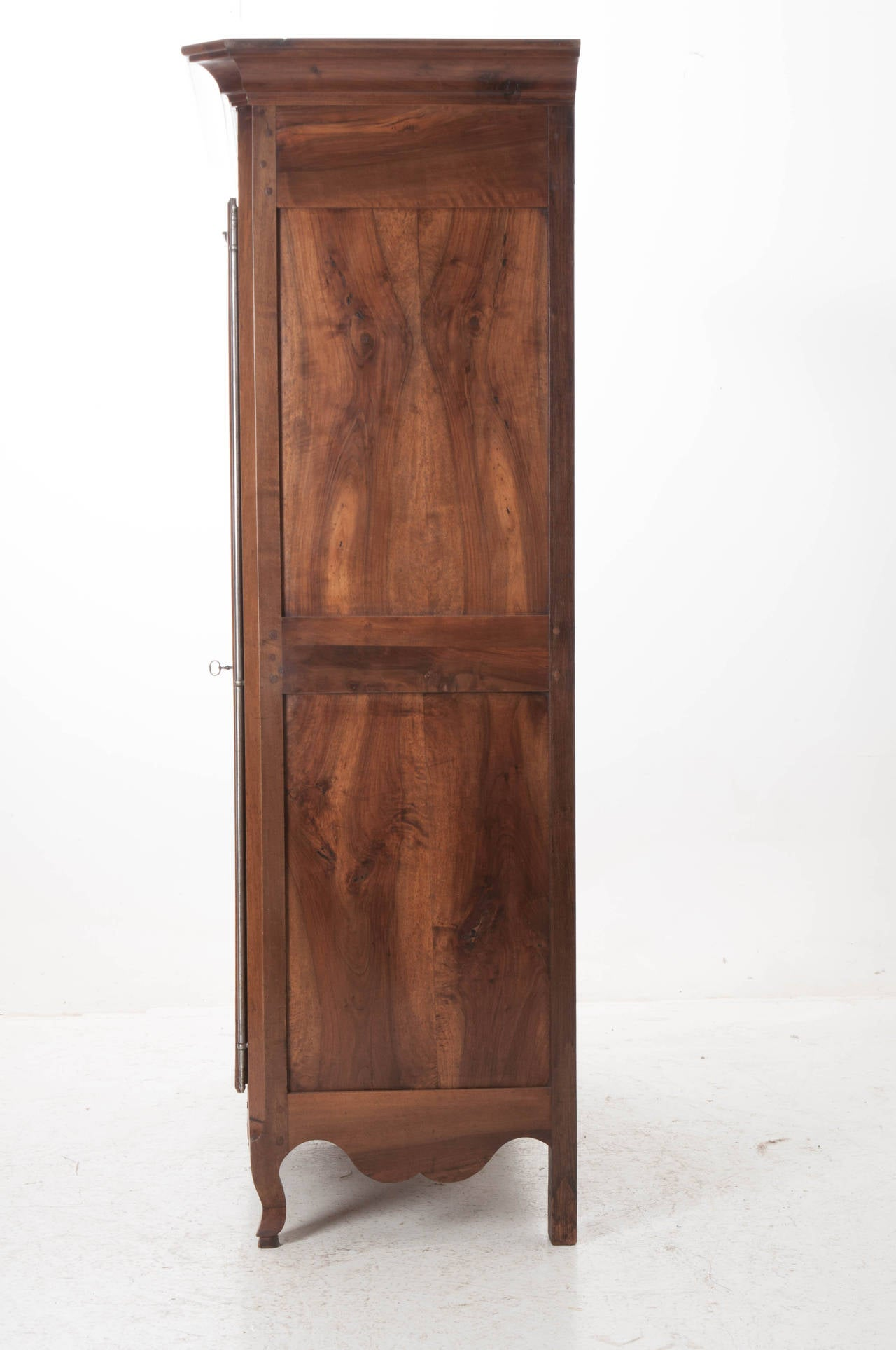 French 19th Century Carved Walnut Armoire For Sale 4