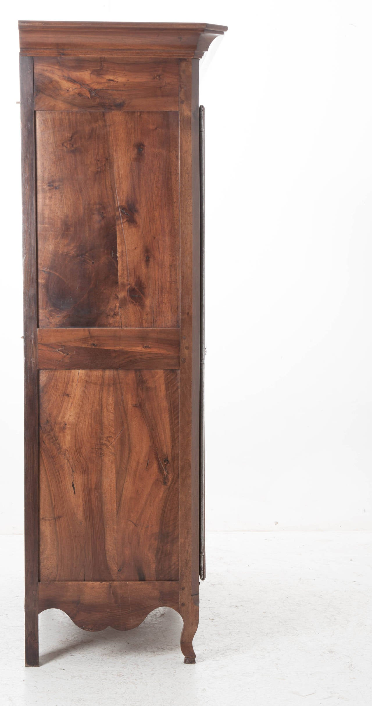 French 19th Century Carved Walnut Armoire For Sale 5