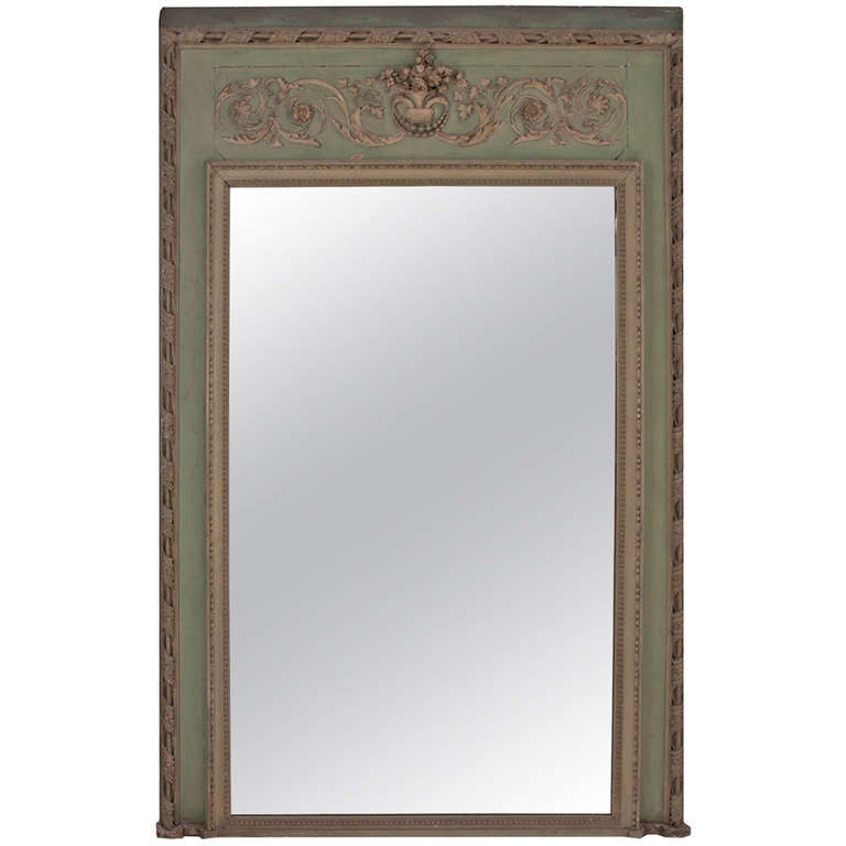 French 19th century painted trumeau mirror at 1stdibs