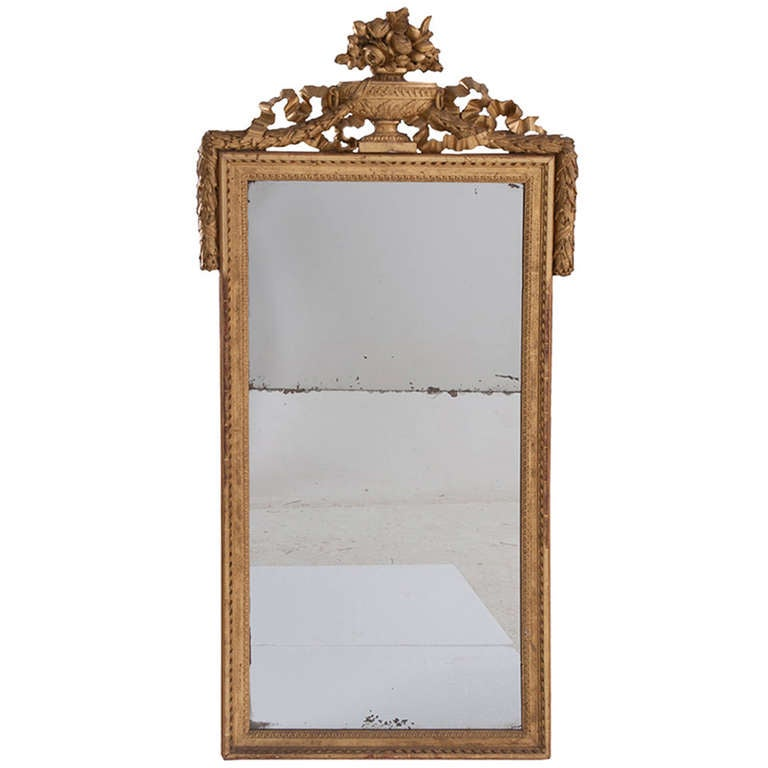French 19th century gold gilt mirror with urn for sale at for What is a gilt mirror