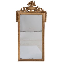 French 19th Century Giltwood Mirror with Urn