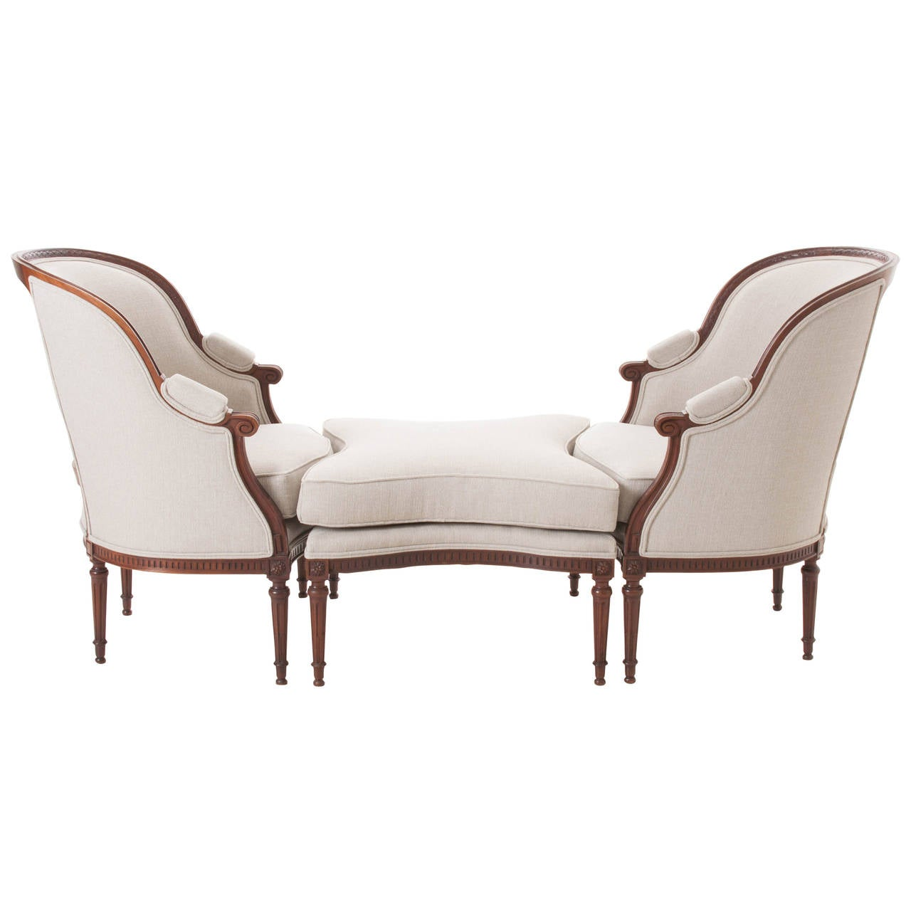 French 19th century louis xvi duchesse brisee at 1stdibs - Louis th chairs ...