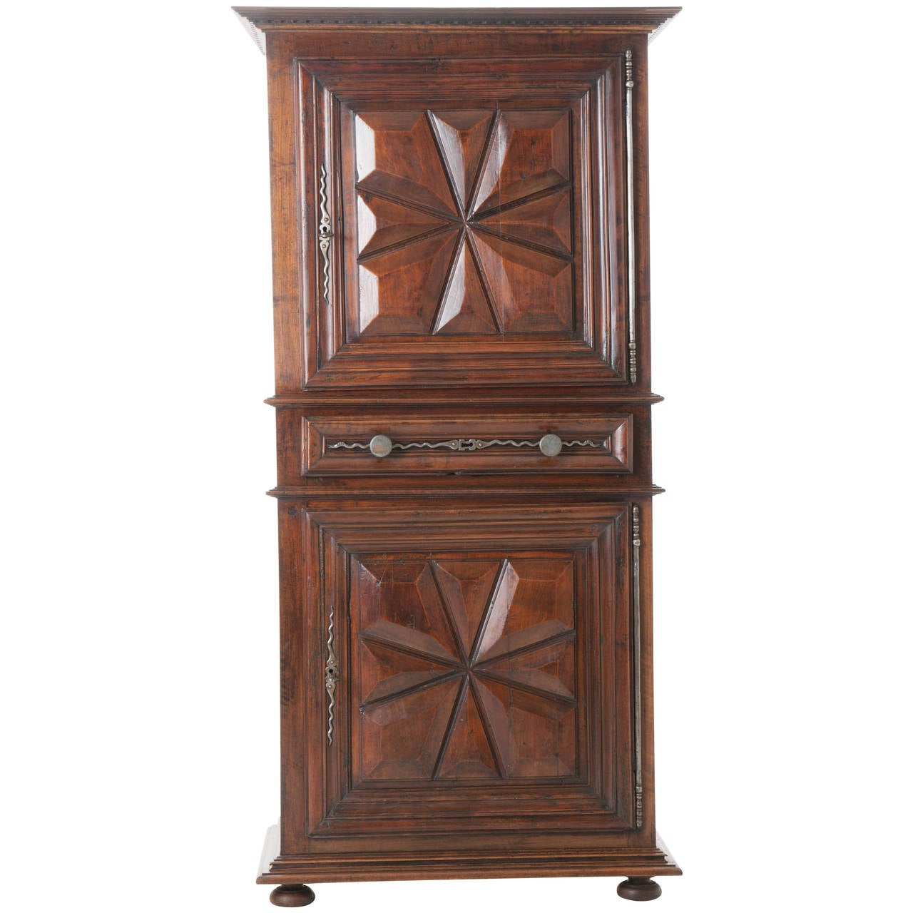 French 19th century louis xiii homme debout or cupboard at for Homme debout meuble