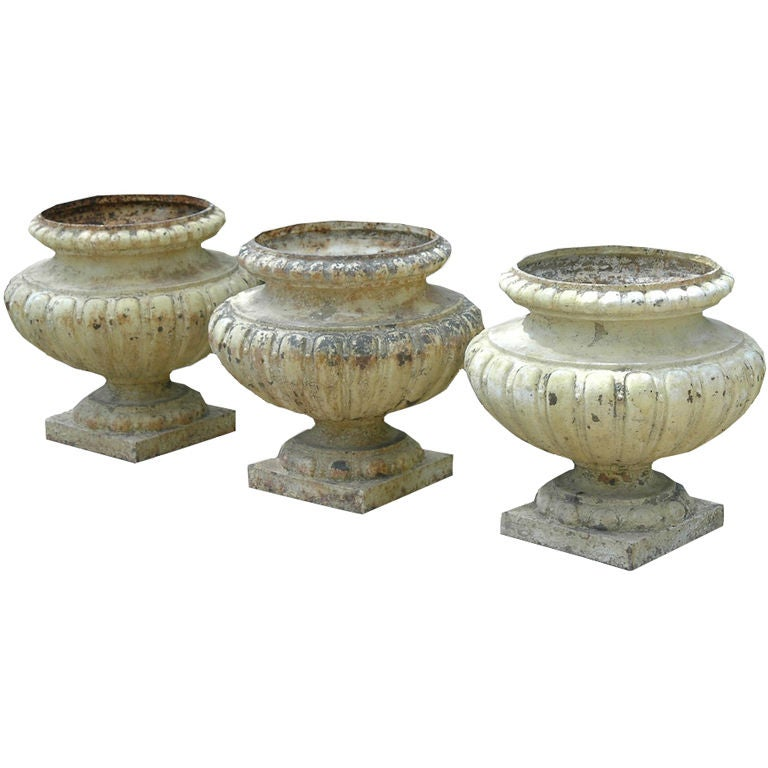 french painted metal urn planters at 1stdibs