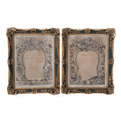 French 19th Century Pair of Framed Lithographs