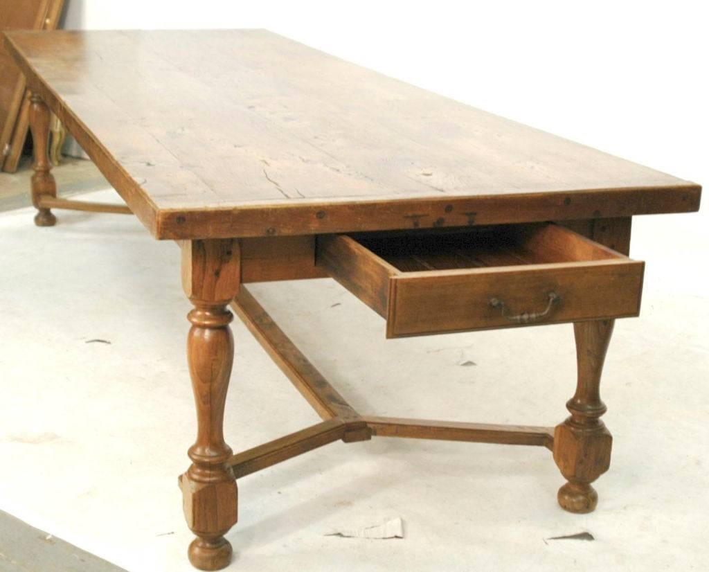english 20th century 10 foot chestnut dining table at 1stdibs