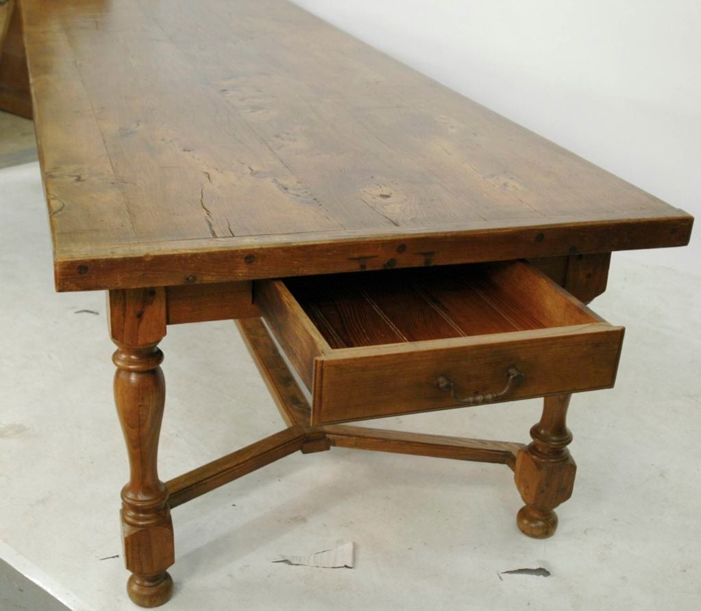 English 20th century 10 foot chestnut dining table at 1stdibs for 5 foot dining room table