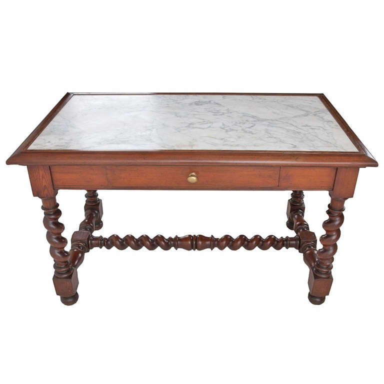 French 19th Century Marble Top Pastry Table At 1stdibs