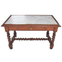 French 19th Century Marble Top Pastry Table