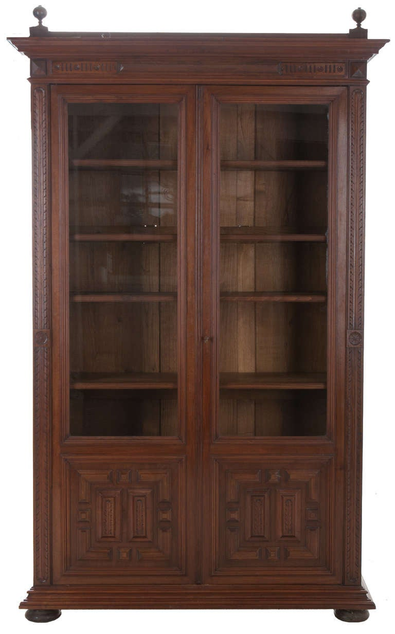 20th c french walnut bibliotheque at 1stdibs. Black Bedroom Furniture Sets. Home Design Ideas