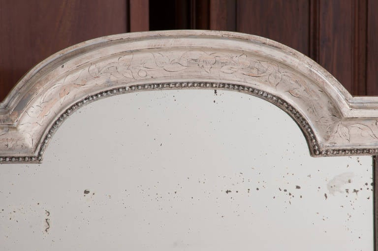 French 19th Century Louis Philippe Silver Gilt Mirror For Sale 1