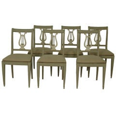 20th Centruy Swedish Painted Dining Chairs - 6