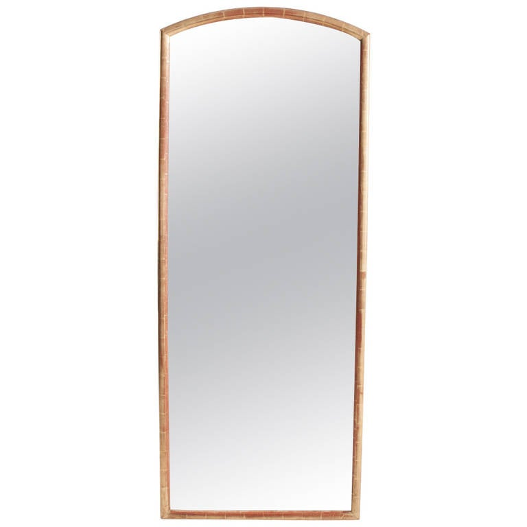 French 19th century tall gold gilt mirror at 1stdibs for Tall gold mirror