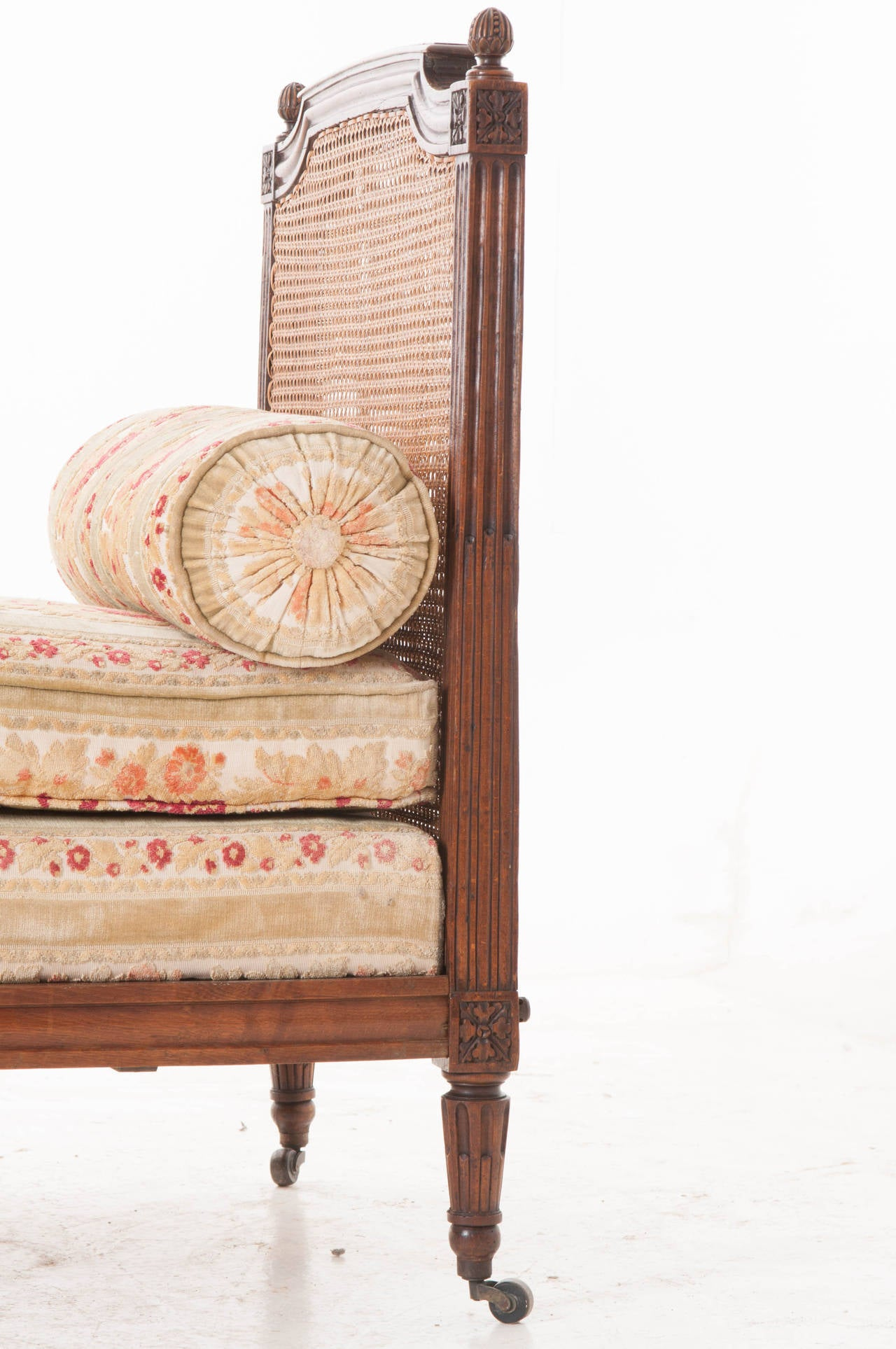 French Louis Xvi Cane And Walnut Daybed At 1stdibs