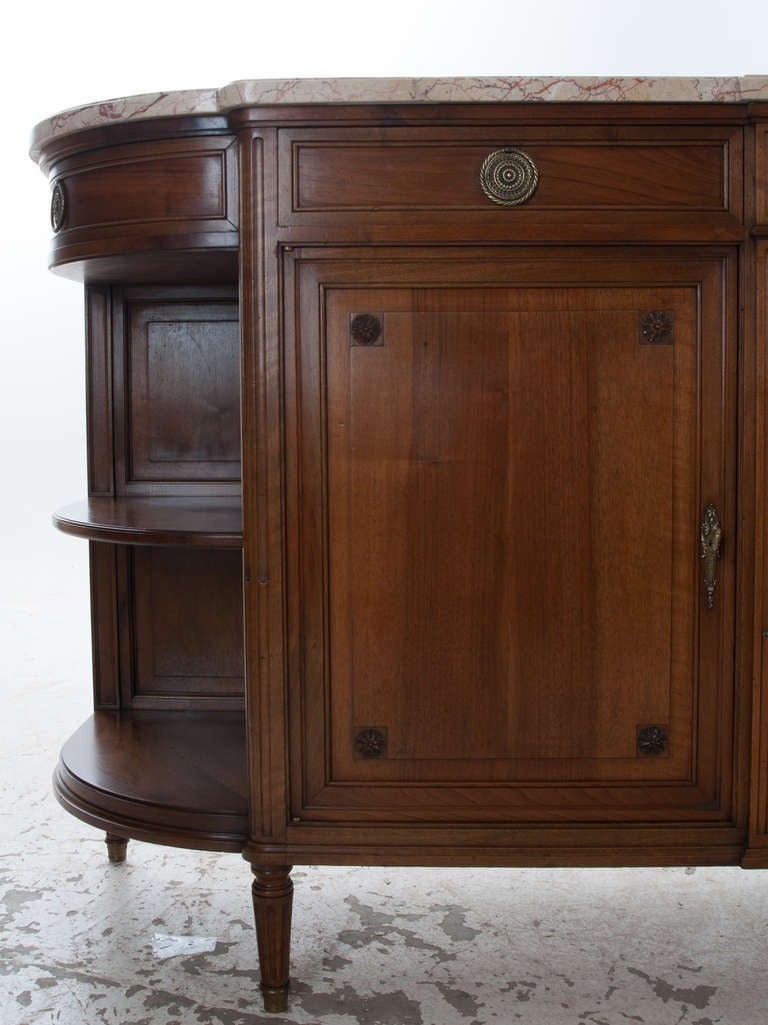 Marble Top Buffet ~ French th century walnut and marble top buffet at stdibs