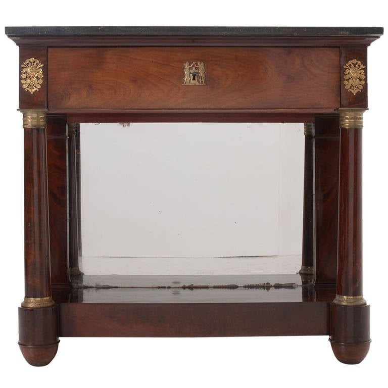 French 19th Century Empire Console Table At 1stdibs