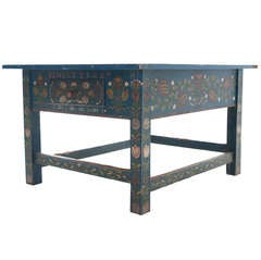 Hungarian Painted Coffee Table Made in 1946