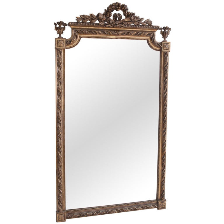 French Louis XVI Style Gilt Mirror
