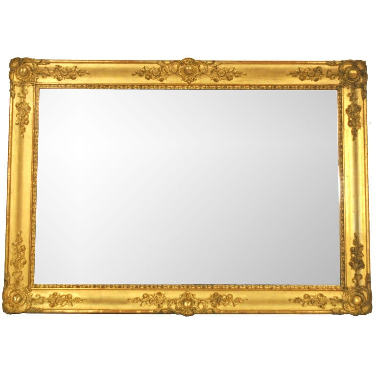 19th C French Gold Gilt Mirror At 1stdibs